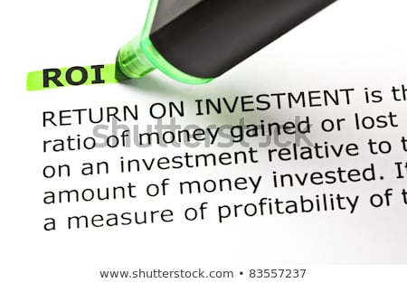 ROI highlighted in green Stock photo © ivelin