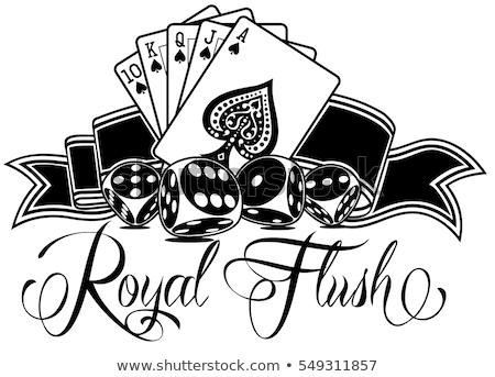 Spade koninklijk witte succes poker kaart Stockfoto © dacasdo