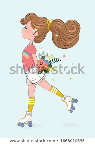 girl with roller Stock photo © Paha_L