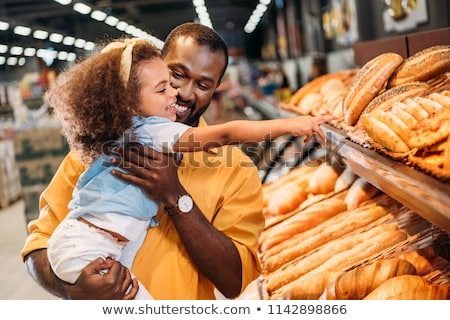 Father and daughter in supermarket Stock photo © Paha_L