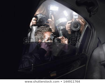 Celebridades paparazzi três meninas silhuetas não Foto stock © coolgraphic