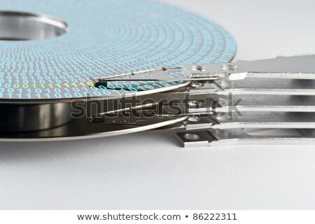 közelkép · számítógép · merevlemez · technológia · gép · stúdió - stock fotó © gewoldi
