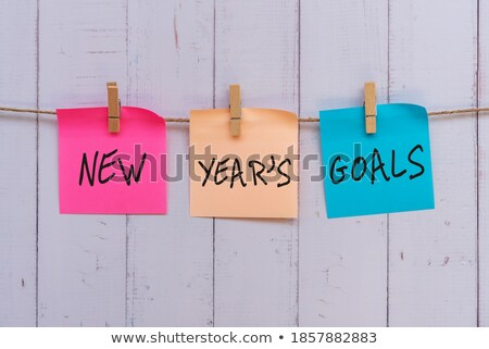 Plan, Wooden peg  and colorful words Stock photo © Ansonstock