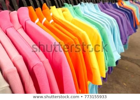 Mode shirt rack coloré vêtements extérieur Photo stock © lunamarina