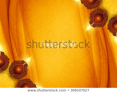 Abstract diwali artistico wallpaper mano felice Foto d'archivio © pathakdesigner