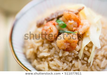 Ginger Shrimp and Rice Stock photo © fotogal