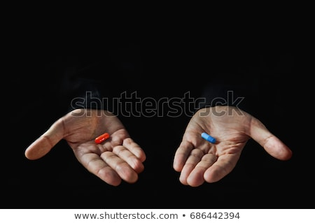 blue pills Stock photo © prill