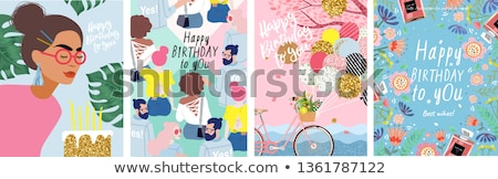 happy birthday to you young girl celebrates stock photo © darrinhenry