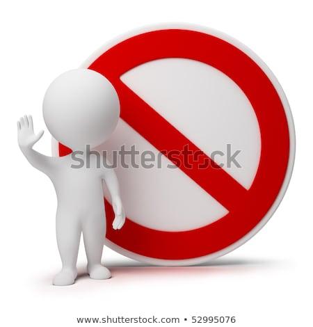 Zdjęcia stock: D · małych · ludzi · - · znak · zakazu