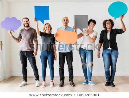 社会 ネットワーク 人 吹き出し ストックフォト © 4designersart