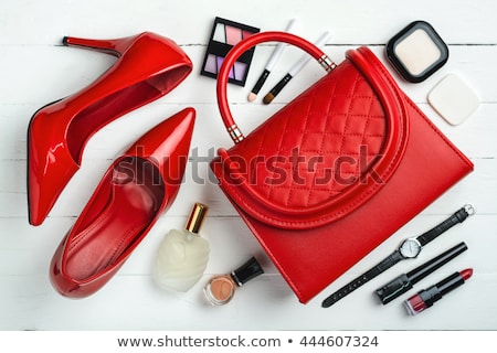 Stock photo: Red shoes and bag.