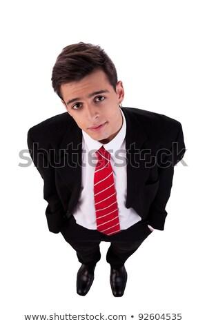 Retrato jovem homem de negócios isolado branco Foto stock © alexandrenunes