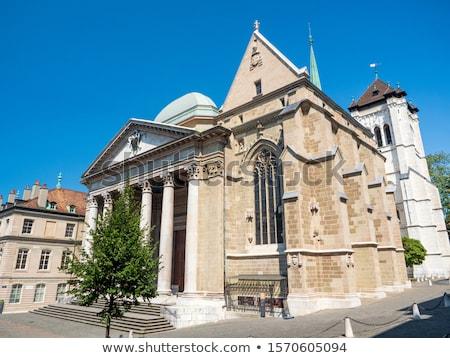 protestáns · templom · Genova · Svájc · fehér · kicsi - stock fotó © vladacanon