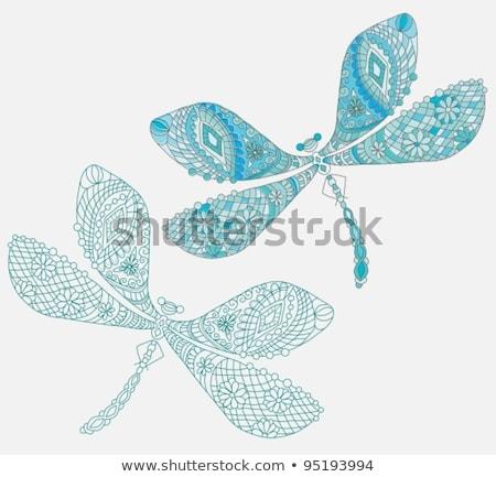 libélula · corpo · asas · grande · flores - foto stock © elmiko