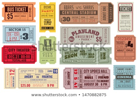 Stock photo: Vector vintage tickets