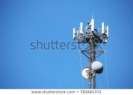 Kablosuz iletişim kule gökyüzü telefon telefon Stok fotoğraf © Mikko