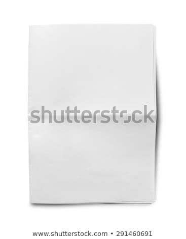 üres · újság · üzletember · tart · újság · izolált · fehér - stock fotó © devon