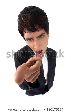 enojado · empresario · distorsionado · figura · negocios · modelo - foto stock © photography33
