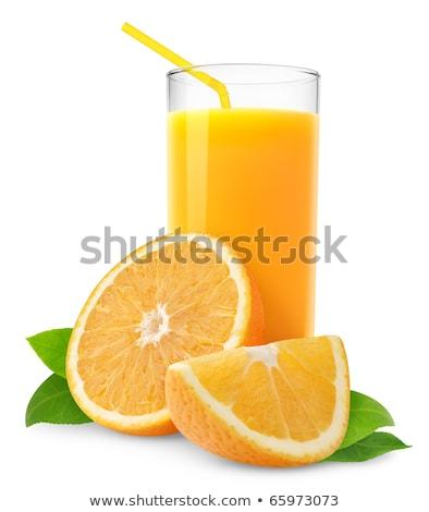 taze · portakal · suyu · yalıtılmış · meyve · cam · kokteyl - stok fotoğraf © ozaiachin