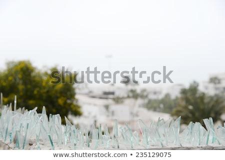 Törött üveg darabok felső fal barna éles Stock fotó © Klodien