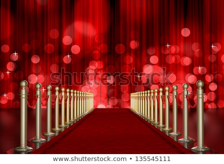 red Light Burst over curtain Stock photo © manaemedia