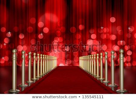 red light burst over curtain stock photo © manaemedia