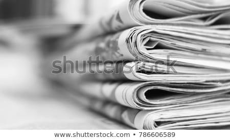 Pénzügyi újság 3D kicsi emberi karakter Stock fotó © JohanH