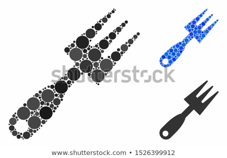 грабли металл Живопись вилка грязи инструментом Сток-фото © photography33