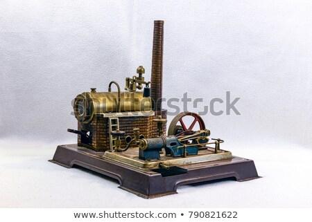 Stockfoto: Speelgoed · stoom · motor · oude · Rood