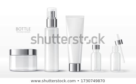 Cosméticos três branco corpo projeto saúde Foto stock © timurock