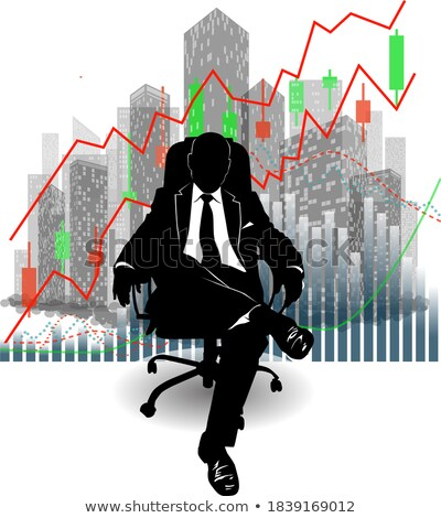 Businessman sitting on chair against graph background Stock photo © vlad_star