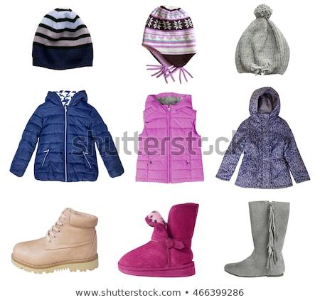 collage of warm children's clothing Stock photo © RuslanOmega