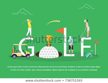 golfbag on a golf course in summer  stock photo © juniart