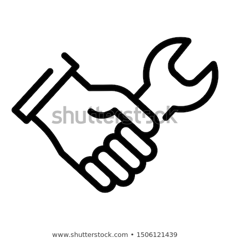 Stockfoto: Hand Grasping Wrench
