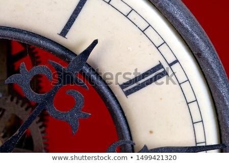 Klok oude klassiek slinger hout muur Stockfoto © Witthaya