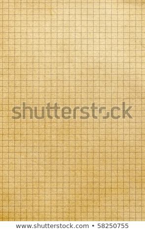 Old yellowing square paper grid close up. Stock photo © latent
