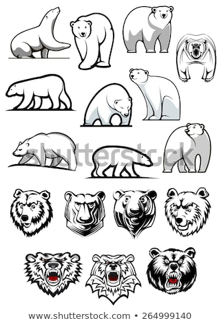 Polar Bear Mascot Body Vector Cartoon Stock photo © chromaco