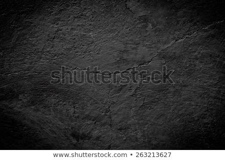 fekete · kő · textúra · beton · kövek · fal - stock fotó © jadthree