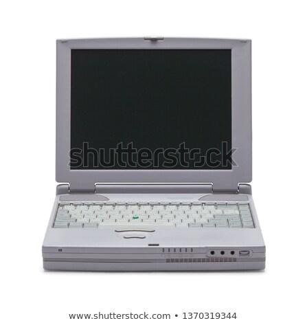ретро ноутбука изолированный белый служба работу Сток-фото © HectorSnchz