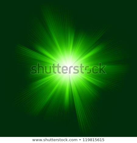 Stok fotoğraf: Abstract Glowing Light On A Green Eps 8