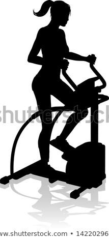 Zdjęcia stock: Aerobik · cardio · szkolenia · kobieta · rower · siłowni