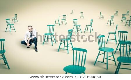 confundirse · empresario · jóvenes · ceja · hombre - foto stock © rtimages