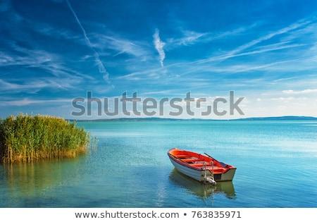 Балатон · озеро · Венгрия · красивой · Blue · Sky · воды - Сток-фото © samsem