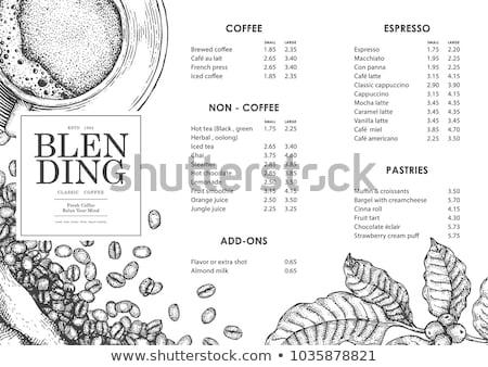 Kahve menü dizayn Stok fotoğraf © szabore