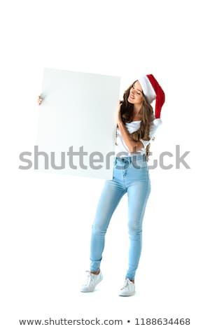 Рождества · женщину · Hat · пусто - Сток-фото © Nobilior