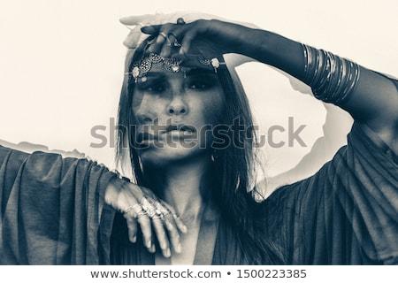cadı · portre · güzel · güzel · genç · esmer - stok fotoğraf © carlodapino
