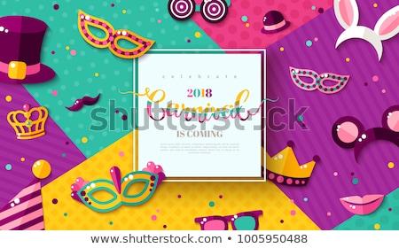 Сток-фото: цвета · карнавальных · красивой · белый · маске