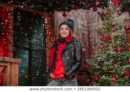 Christmas jonge vrouw mooie sensueel blond meisje Stockfoto © carlodapino
