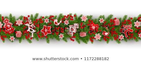 Noel oyuncak yeşil kalp yalıtılmış beyaz Stok fotoğraf © maisicon