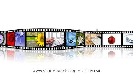 grunge · film · şeridi · vektör · eps10 · doku · film - stok fotoğraf © tanais
